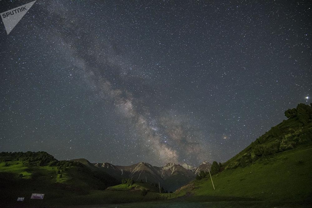Звездное небо под Бишкеком