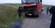Два человека погибли в результате ДТП с грузовой машиной и Hyundai Porter на 585-километре трассы Бишкек — Ош
