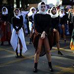 Демонстрация против сексизма и гендерного насилия в Сантьяго