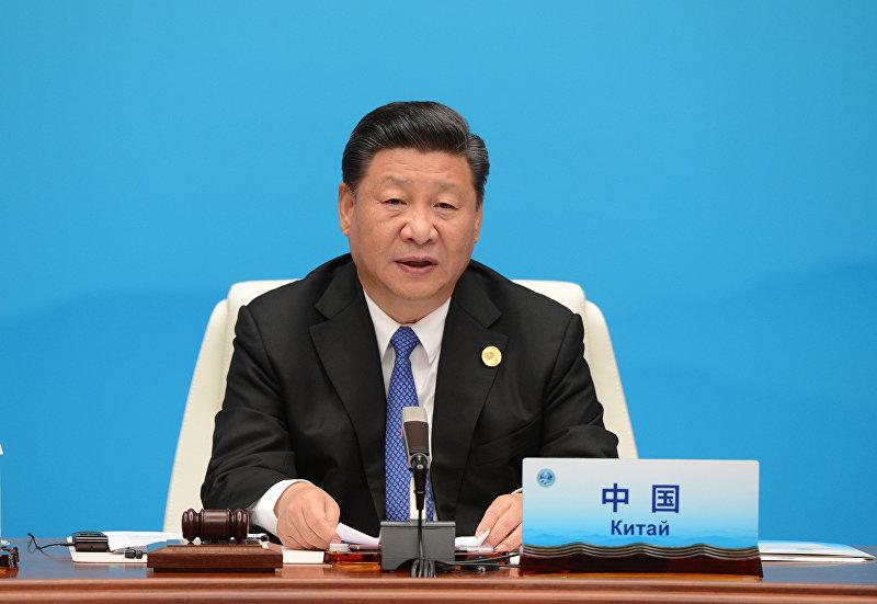 Председатель КНР Си Цзиньпин принимает участие в заседании Совета глав государств - членов Шанхайской организации сотрудничества (ШОС) в расширенном составе в Циндао.