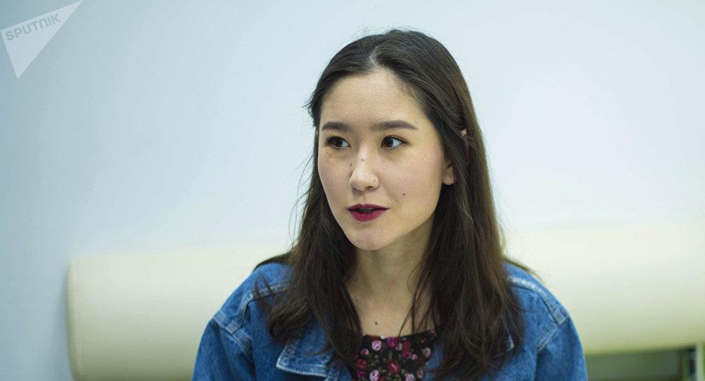 Художница из Бишкека, дочь бывшего-президента Алмазбека Атамбаева Алия Шагиева. Архивное фото