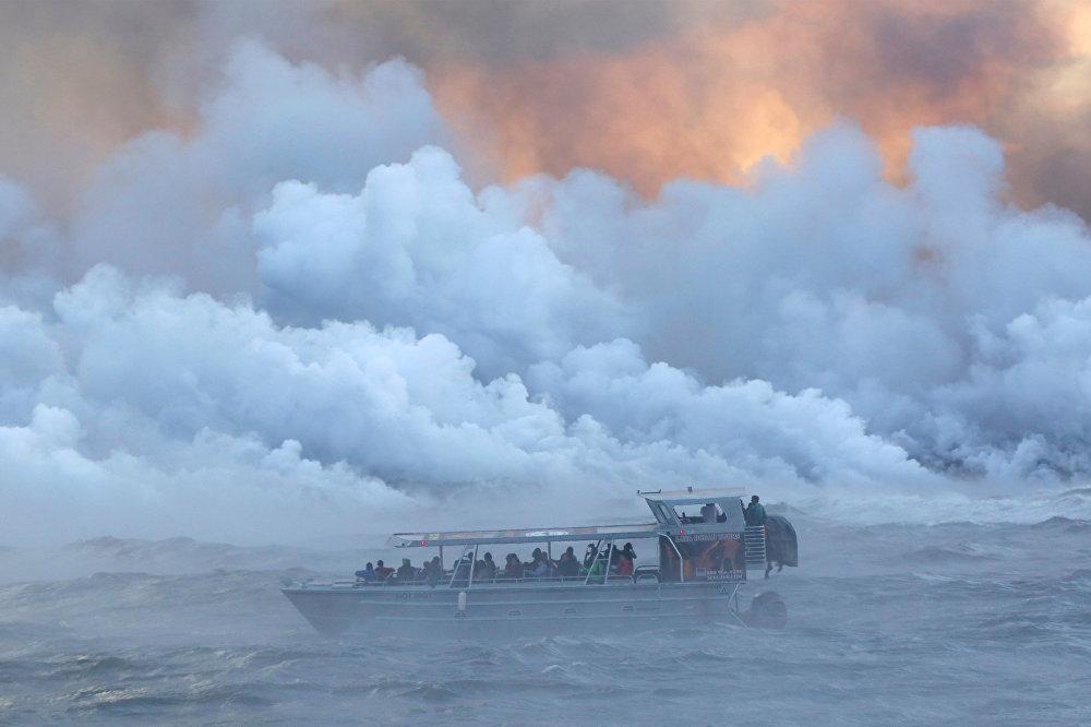 Извержение вулкана Килауэа в Гавайи