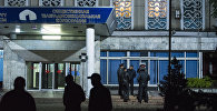 Сотрудники МВД у здания КТРК. Архивное фото