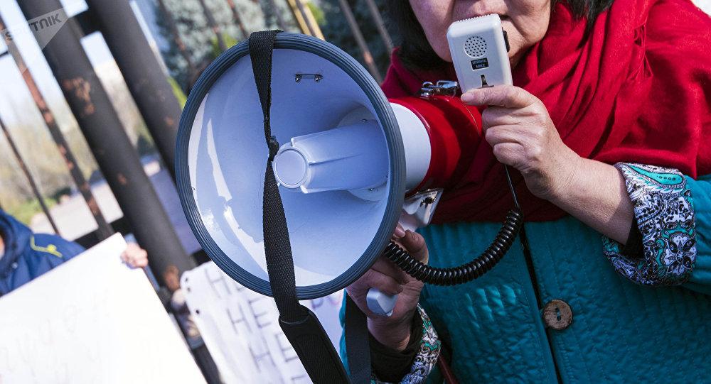 Участница митинга. Архивное фото