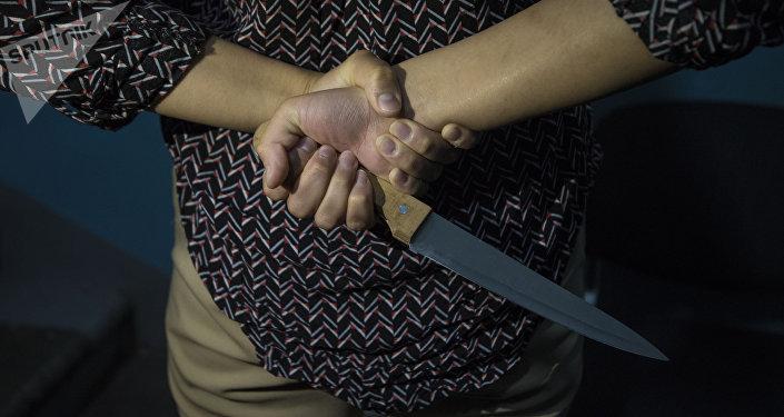 Случаи нападения с ножом. Архивное фото