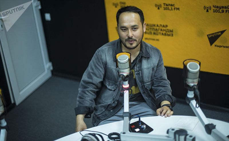 Блогер, специалист по пиару, продюсер Азим Азимов во время интервью корреспонденту Sputnik Кыргызстан