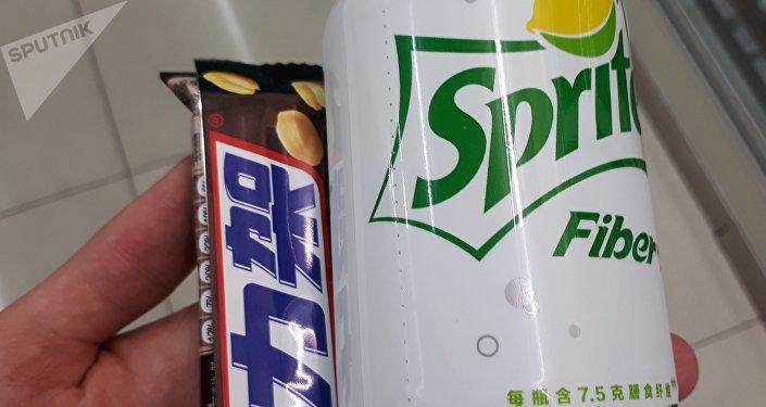 Еда и напитки выглядят часто непривычно для нас. Например, этикетка, да и вкус Sprite отличаются от того, что мы пьем в Кыргызстане