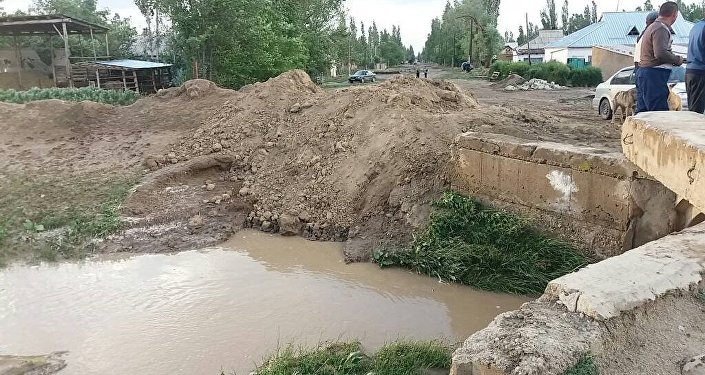 Последствия селя в селах Аманбаев и Ак-Жар Таласской области