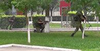 На авиационной базе ОДКБ Кант прошли антитеррористические учения — видео