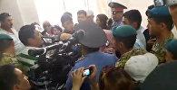 Судью, вынесшего приговор Садыру Жапарову, пытались избить. Видео