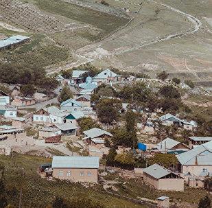 Общий вид на поселок 18-й Шурф города Сулюкта в Баткенской области. Архивное фото
