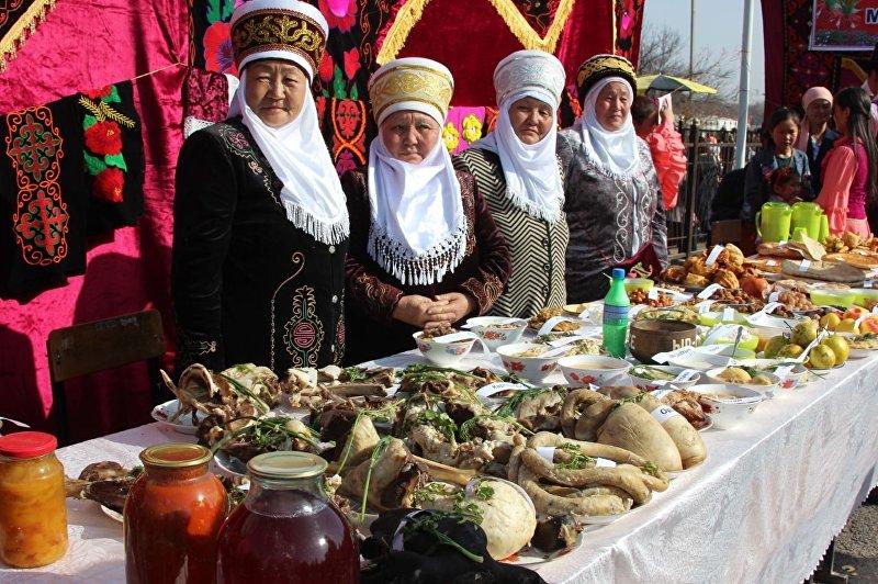 Праздничные блюда в честь Нооруза в Баткене