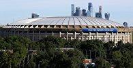 Москва шаарындагы Лужники стадиону. Архивдик сүрөт