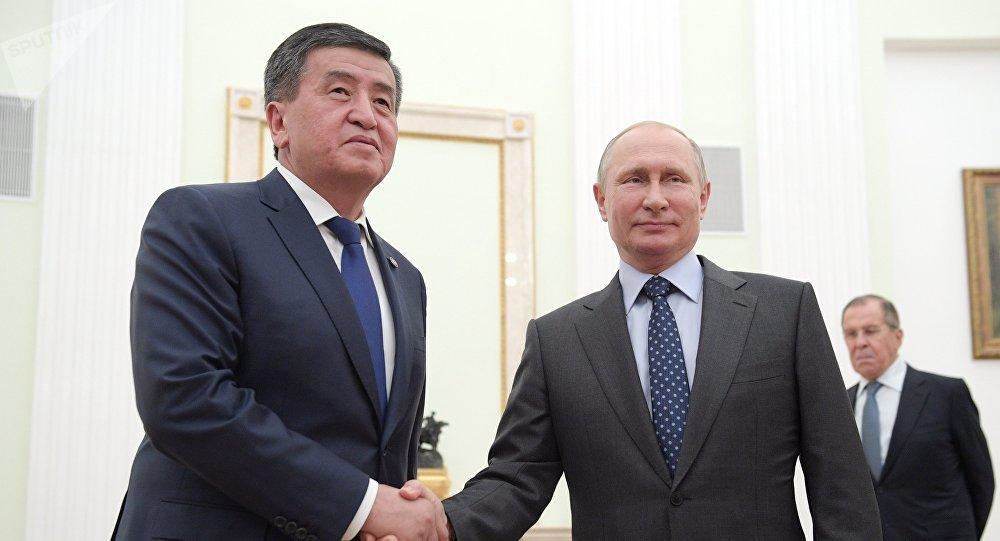 Президент РФ В. Путин встретился с президентом Киргизии С. Жээнбековым