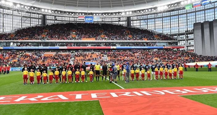 Уругвай одержал победу в матче с Египтом, со счетом 1:0