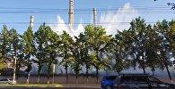 На территории ТЭЦ Бишкека бил гигантский фонтан