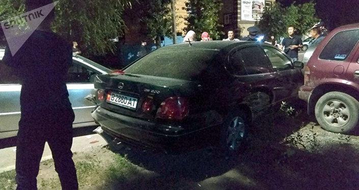 ДТП на пересечении улиц Фрунзе и Калыка Акиева