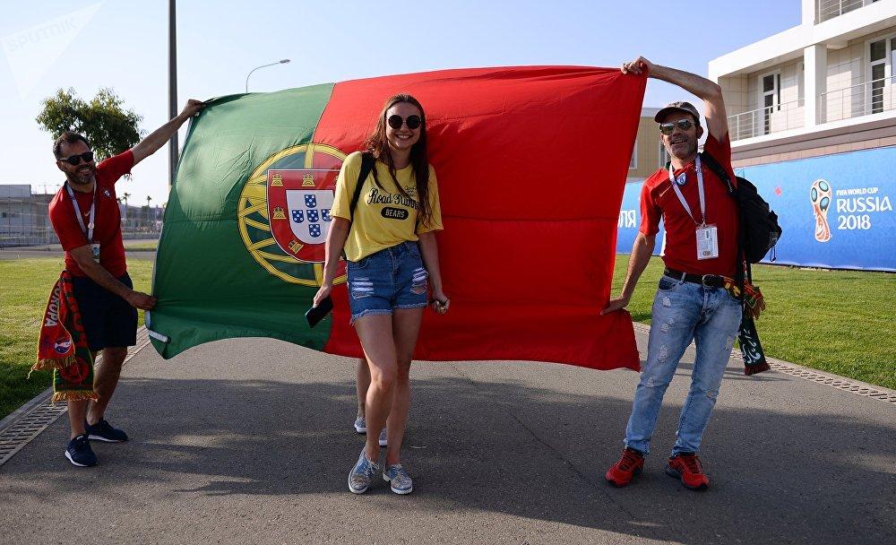 Болельщики перед матчем ЧМ-2018 Португалия - Испания