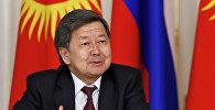 Экс-премьер-министр Жантөрө Сатыбалдиевдин архивдик сүрөтү