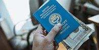Заграничный паспорт гражданина Кыргызсатна. Архивное фото