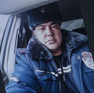 Инспектор Главного управления обеспечения безопасности дорожного движения Бакыт Жукалаев