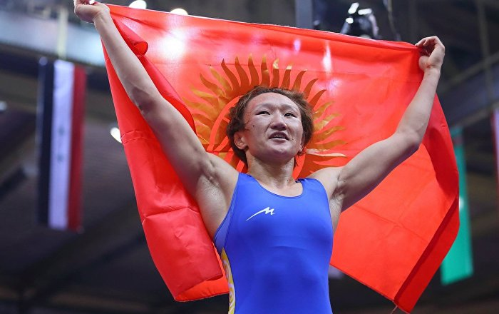 Дважды чемпион Азии по женской вольной борьбе Айсулуу Тыныбекова. Архивное фото