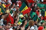 Болельщики в матче группового этапа чемпионата мира по футболу между сборными Польши и Сенегала на стадионе Спартак в Москве.