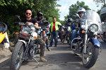 В Ош приехали 40 байкеров в рамках международного мотопробега Путь кочевника