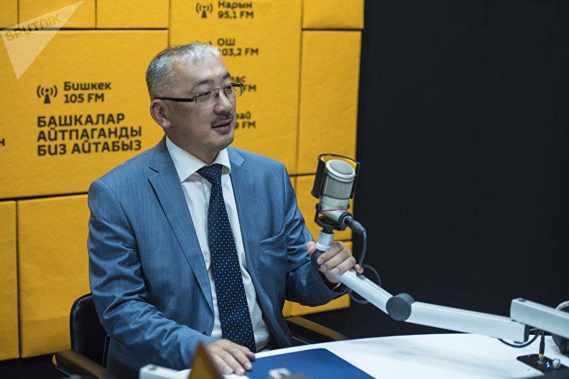 Председатель Госкомитета промышленности, энергетики и недропользования КР Уланбек Рыскулов