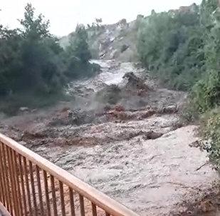Что натворил сель в Чаткале. Видео