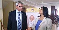 Экс-премьер-министр Норвегии, основатель и президент Центра прав человека и мира (Осло), член Мадридского клуба Кьель Магне Бондевик в Кыргызстане