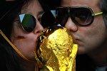 Германия футбол күйөрмандары дүйнө чемпионатында. Архивдик сүрөт