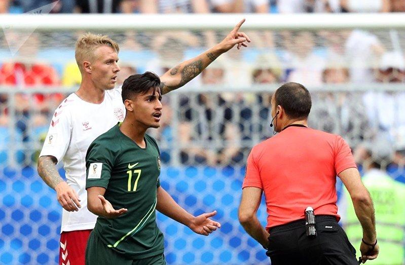 Футбол. ЧМ-2018. Матч Дания - Австралия