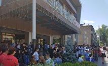В торговом центре Bishkek Park на верхнем этаже произошел пожар