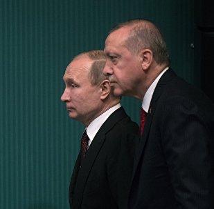 Түркиянын президенти Режеп Тайип Эрдоган жана Россия лидери Владимир Путин. Архив