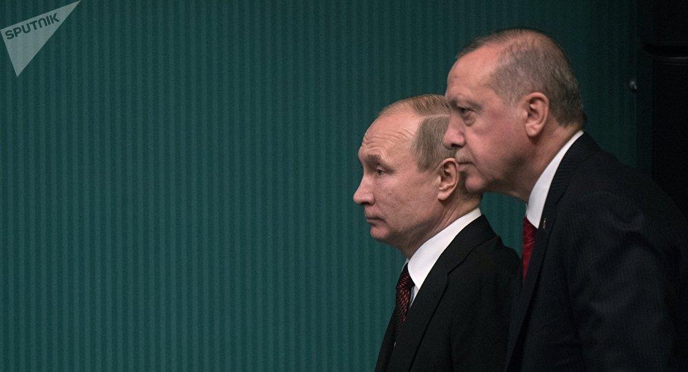 Президент РФ Владимир Путин и президент Турецкой Республики Реджеп Тайип Эрдоган. Архивное фото