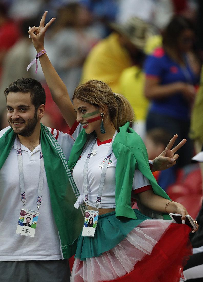 Иранские футбольные болельщики