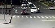 В Сети появилось видео страшного автонаезда на участников дуатлона в Астане