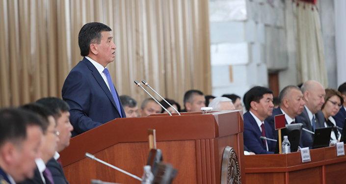 Выступление президента КР Сооронбая Жээнбекова на заседании ЖК
