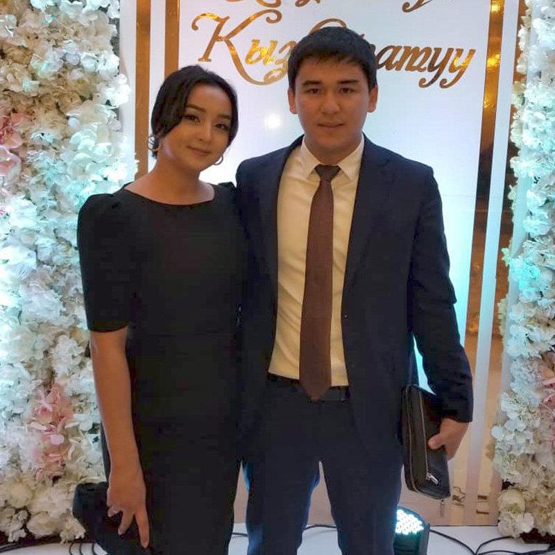 Дочь президента КР Соронбая Жээнбекова Бактыгуль с мужем Атабеком