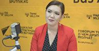 Жогорку Кеңештин маалымат кызматынын жетекчиси болуп дайындалган Индира Куралбекова. Архив