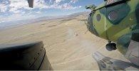 Военные продемонстрировали навыки ведения воздушного боя на полигоне Эдельвейс в городе Балыкчи.