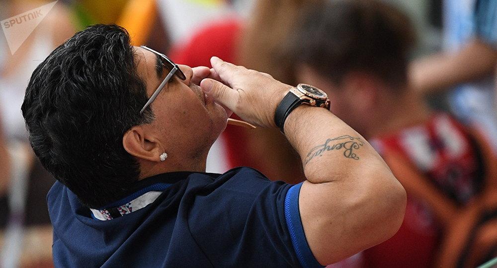 Легендарный аргентинский футболист Диего Марадона. Архивное фото
