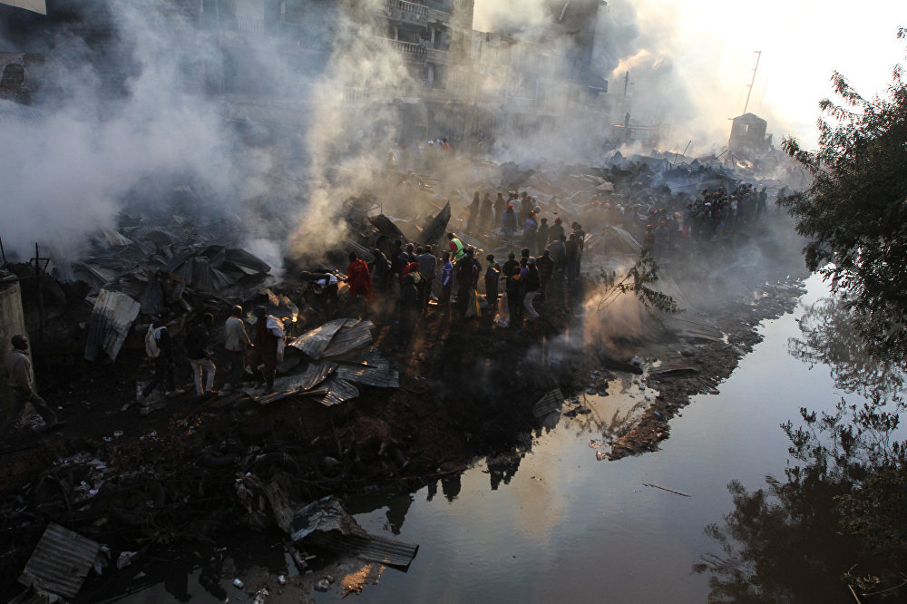 Кениянын борбору Найроби шаарындагы базарда чыккан өрттөн 15тей киши каза болуп, 70тен ашыгы түрдүү жаракаттарды алды