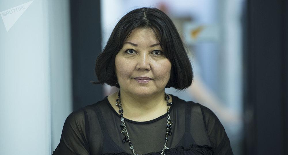 Публицист, журналист, бывший главный редактор газеты Лица Бермет Букашева