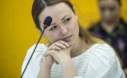 Выпускница КРСУ Александра Котеняткина на круглом столе