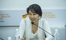 Жогорку Кеңештин депутаты Аида Исмаилова. Архив