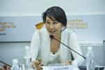 Вице-премьер-министр КР Аида Исмаилова. Архив