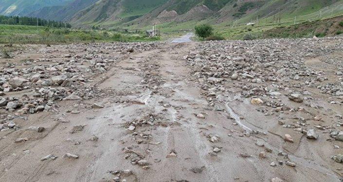 Последствия селя в Иссык-Атинском районе