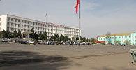 Флагшток на главной площади Оша. Архивное фото